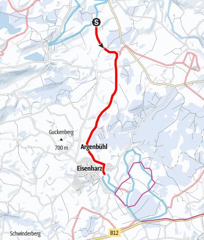 Karte / Argenbühl - Verbindungsloipe Christazhofen - Eisenharz