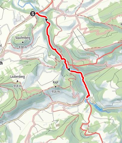 Karte / Eistobel - Quer durch die Schlucht zum Schüttentobel - Westallgäuer Wasserweg 17