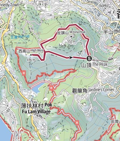 Map / MountHighWest 20161030Route, 2017/4/19
