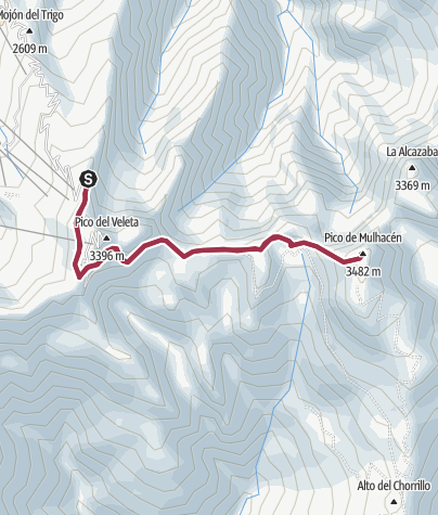 Mapa / Mulhacen Cara Oeste 22 sept. 2019