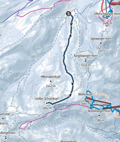 Karte / Von Gunzesried auf den Großen Ochsenkopf