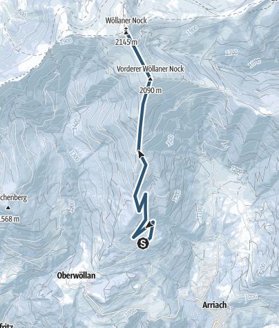 Karte / Wöllaner Nock