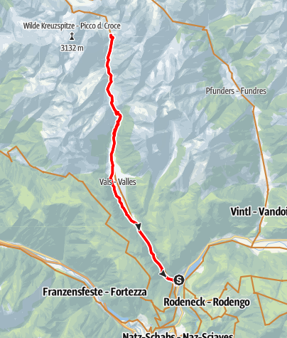 Karte / Mit dem Mountainbike zur Brixner Hütte