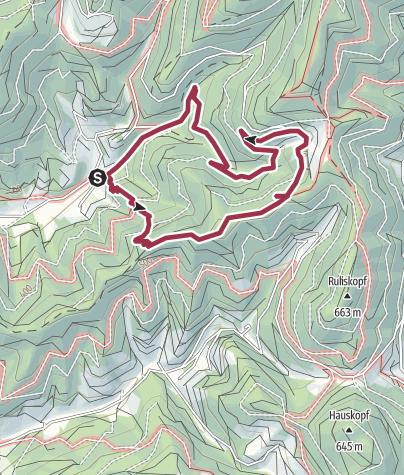 Karte / Rundwanderung Laurentiuskapelle - Pilatus - Braunberg