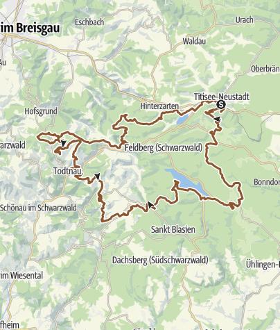 Südschwarzwald Karte.Gipfeltrail Hochschwarzwald Mountainbike Outdooractive Com