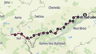 Map / Ore Mountains-Vogtland Ridgeway