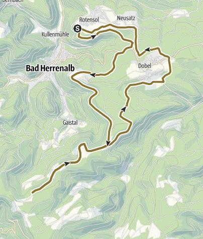 Carte / 32km Rotensol Reitstall- Hahnenfalzhütte