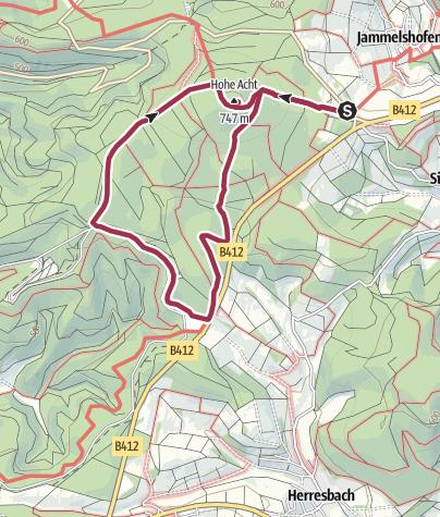 Karte / Hohe Acht und Nürburgring