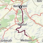 Karte / Eifelsteig Etappe 07: Blankenheim - Mirbach