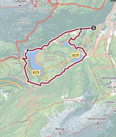 Karte / Biberwier - Fernpaß - Rundgang