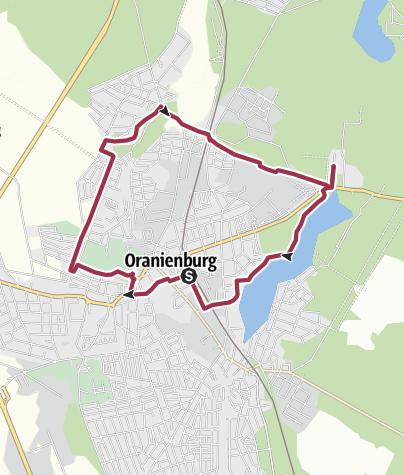 Karte / Rundwanderung Schloss Oranienburg und Gedenkstätte Sachsenhausen