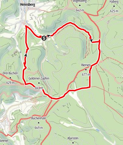 Karte / Qualitätstour: Krenkeltal und Goldener Zapfen - Gratwanderung zwischen Rhein und Weser
