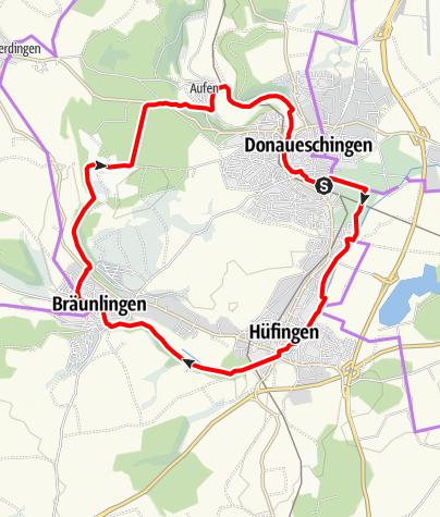 Karte / Breg- und Brigachaue