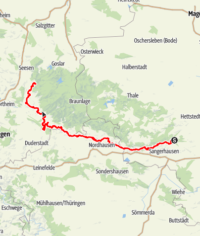 Map / Karstwanderweg Südharz | mit der Südvariante im Landkreis Göttingen