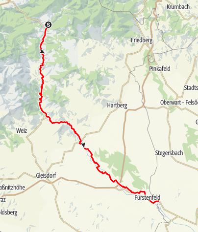 Karte / Feistritztalradweg - Von der Waldheimat ins Apfel- und Thermenland