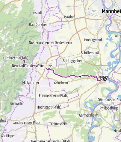Karte / Palatia-Route