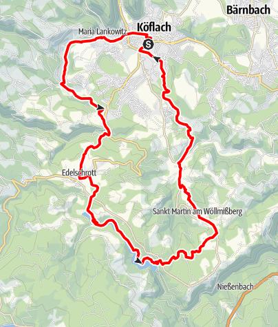 Karte / Hans Kloepfer Rundwanderweg
