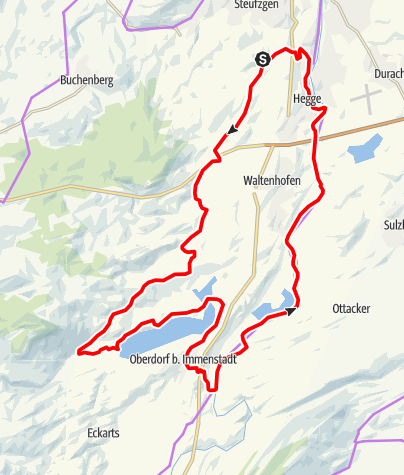 Karte / Vor den Toren Kemptens: aktive Erholung am Niedersonthofener See