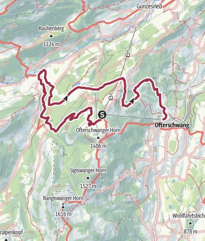 Karte / Ostertobel - idyllische Wanderung ab Ofterschwang