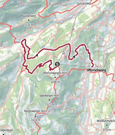 Map / Ostertobel - idyllic hike from Ofterschwang through a picturesque ravine