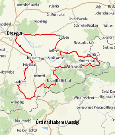 elbsandsteingebirge karte Rock 'N' Roll durchs Elbsandsteingebirge • Motorrad
