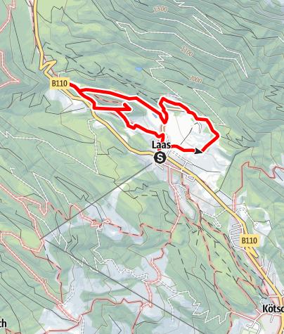 Karte / Geotrail Laas