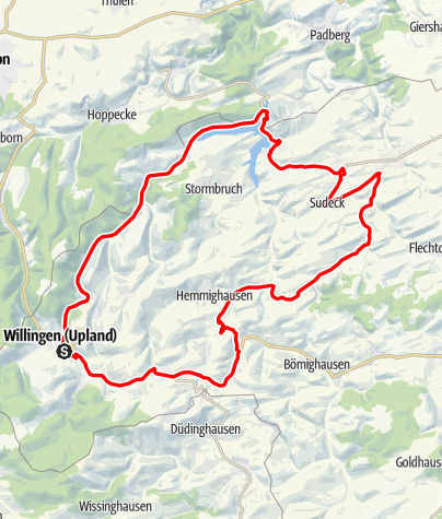 Karte / Bike Arena Sauerland -  Diemelsee-Runde