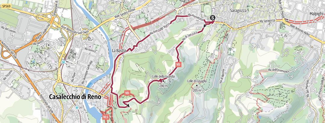Mapa / anello San Luca - San Martino