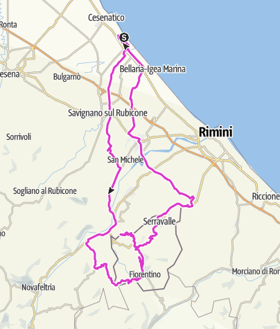 Karte / Cesentico 4. Tag