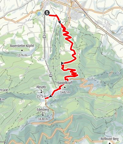 Karte / Alpspitz über Engelburgweg
