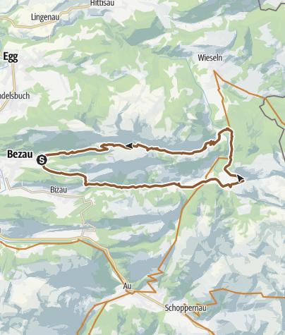 Map / Bezau   Schönenbach - Schreiberesattel