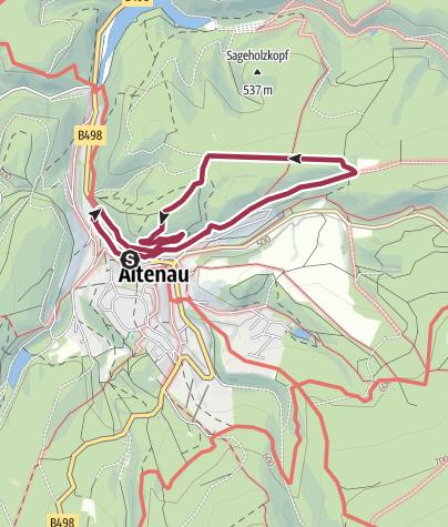 Karte / Altenau Nr. 2 Brockenblick