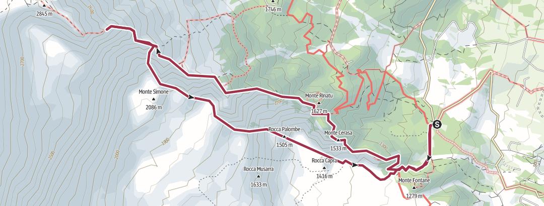 Karte / Pietracannone