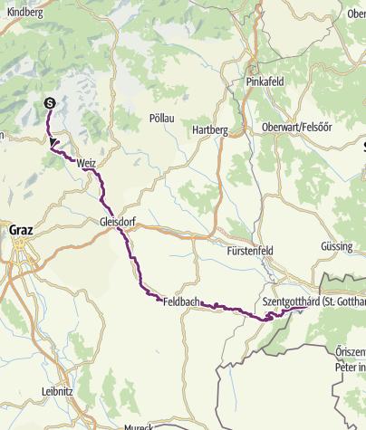 Karte / Raabtalradweg