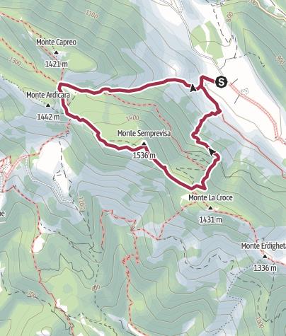 地图 / Monte  Semprevisa