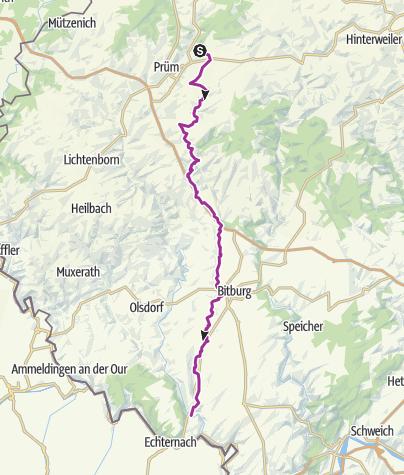 Map / Nims Valley Cycle Route (Weinsheim - Irreler Mühle)