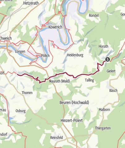 Karte / Ausoniusweg 05. Etappe: Gräfendhron - Fell