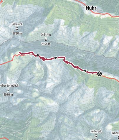 Karte / Wanderung zu den Lanischseen 16