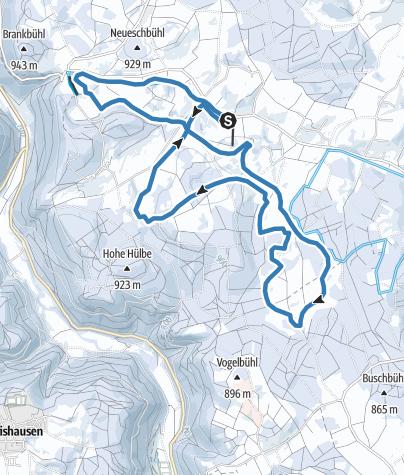 Karte / Nusplinger Loipe