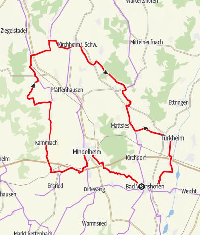 Karte / Aktiv Park Kneippland Unterallgäu-Radtour (Ost)