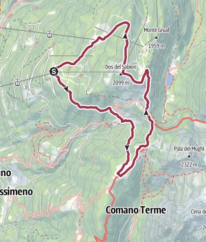 Karte / Rundwanderung Doss del Sabion