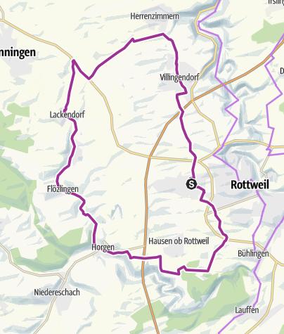 Karte / Zimmern ob Rottweil - Ins Eschachtal