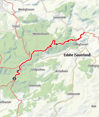 Karte / Sauerland-Höhenflug: Von Weuspert nach Wenholthausen