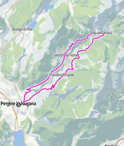 Map / Valle dei Mocheni-Passo Redebus