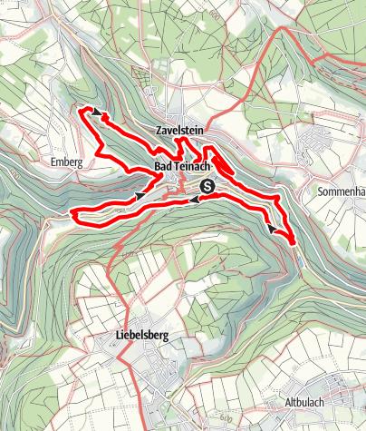 """Karte / Premiumwanderweg """"Der Teinacher"""""""
