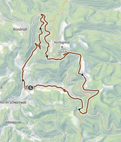 Karte / Seebach - Hohfelsen-Tour