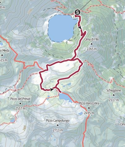 Karte / Lago Tremorgio und Passo Vanit