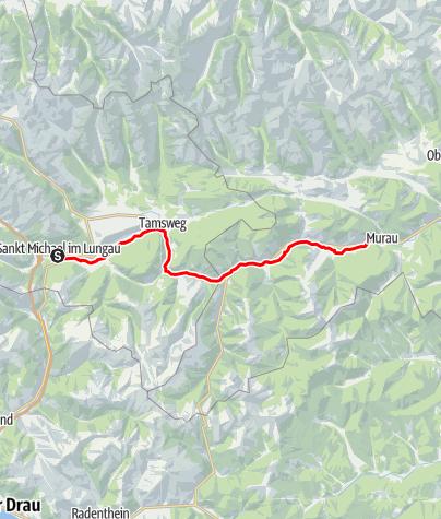 Karte / Etappe 02 Murradweg Muhr im Lungau - Murau