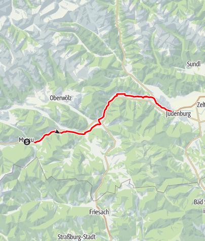 Karte / Etappe 03 Murradweg Murau - Judenburg