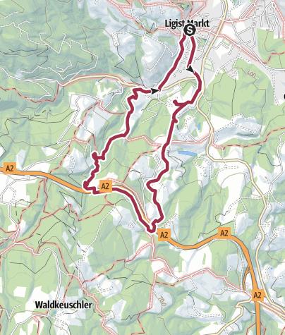 Karte / Schmankerlweg lang